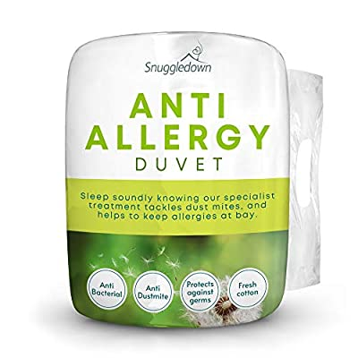 Snuggledown Freshwash Anti Allergy Duvet, Cotton, White