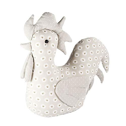 SPOTTED DOG GIFT COMPANY Tope para Puerta Decorativo Tela Animales diseño de Gallo, gallina, Pollito, Accesorio decoración hogar