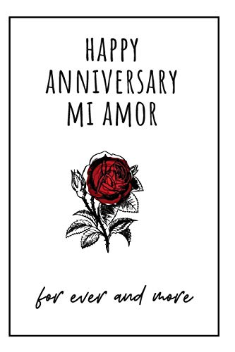 Happy Anniversary Mi Amor: 1st year anniversary gift for boyfriend - Blank lined notebook - Best Gag Gifts for boyfriend or girlfriend - Unique ... or Birthday Present for any romantic moment