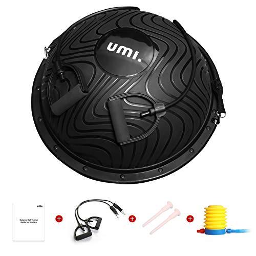 UMI. by Amazon - Balance Ball Trainer mit Fußpumpe, Yoga Halbball Balanceboards für Gymnastik Physiotherapie Gleichgewichtsübungen Fitnessstudio Hause