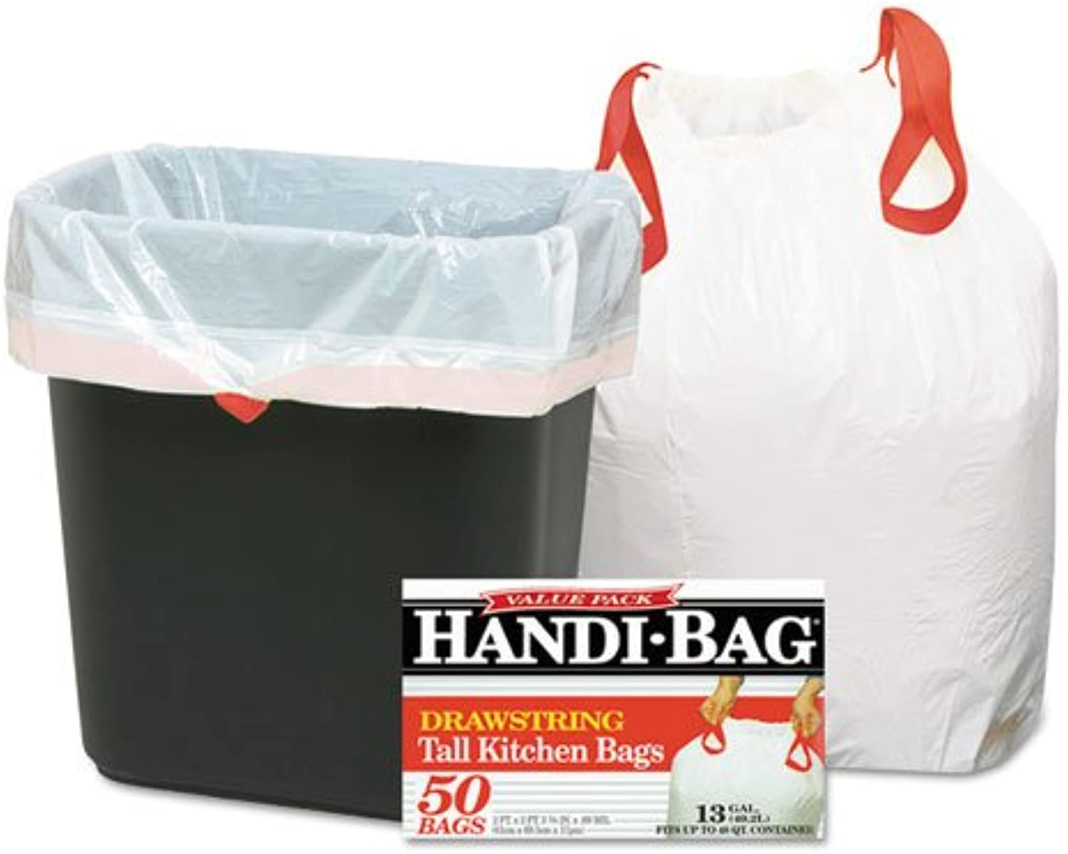 - Super Value Pack Trash Bags, 13gal.69mil, 24 x 27 3 8, White, 50 Box
