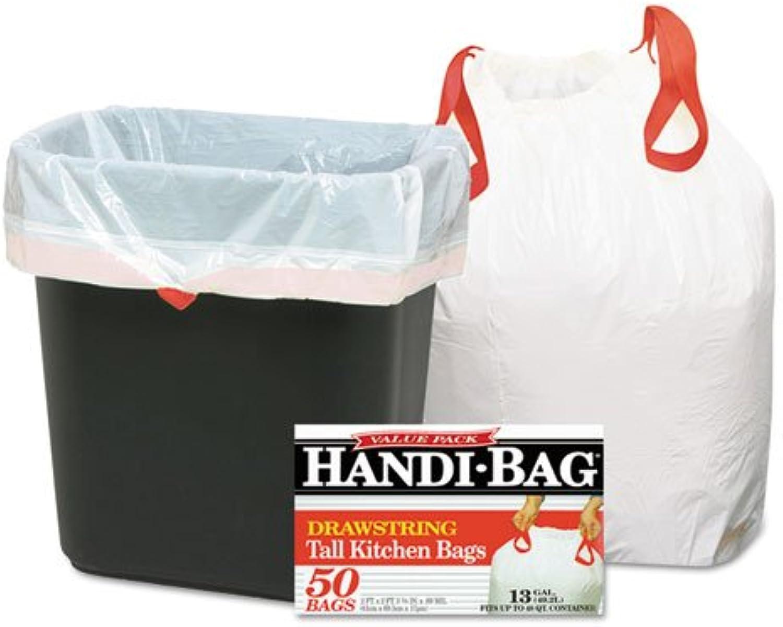 - Super Value Pack Trash Bags, 13gal.69mil, 24 x 27 3 8, White, 50 Box