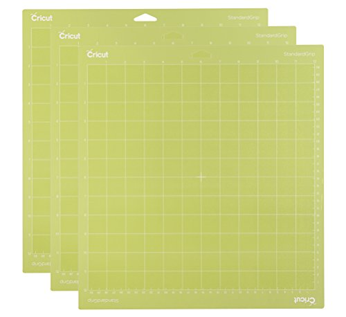 Cricut StandardGrip Adhesive Cutting Mat 12'x12' - For Cricut Explore Air 2/Cricut Maker - 3 Pack