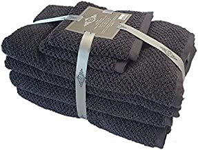 Dune Charcoal 6 Piece Bath Towel Sets by MM Linen