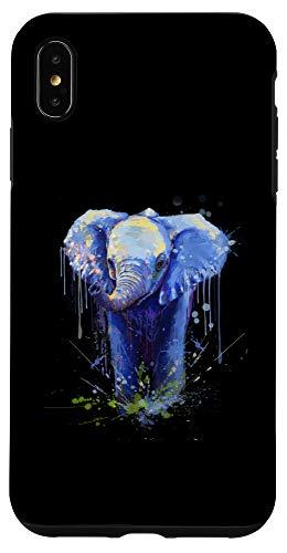 iPhone XS Max Elephant Artwork - Big Mammal Elephant Artwork Gift Case