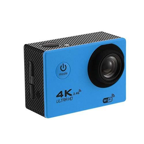 Gesh Cámara de acción 4K Wifi 1080P Hd 16Mp Casco Cam Impermeable Dv Control Remoto Deportes Video Dvr Azul