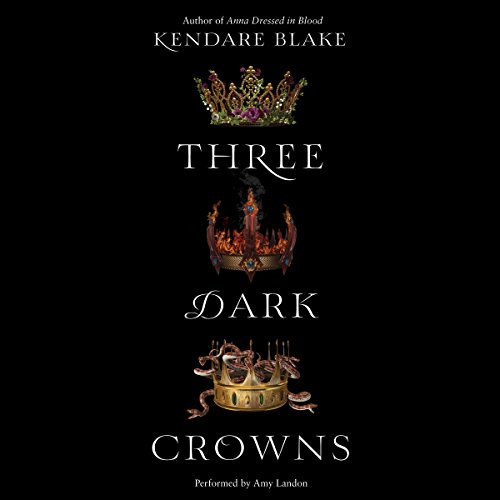 Three Dark Crowns audiobook cover art