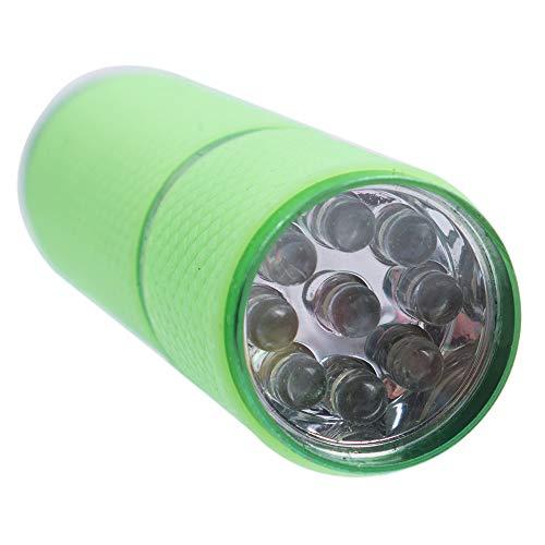 Sèchoir Ongles Mini Lampe De Durcissement Au Gel Uv Portabilité Sèche-ongles 9 Led Lampe De Poche Détecteur De Devises Led
