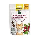GimCat Crunchy Snack Truthahn mit Cranberries - Knuspriges und proteinreiches Katzenleckerli ohne Zuckerzusatz - 1 Beutel (1 x 50 g)