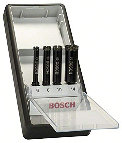 Bosch Professional 4tlg. Diamant-Bohrer-Set nass Diamond for Hard Ceramics