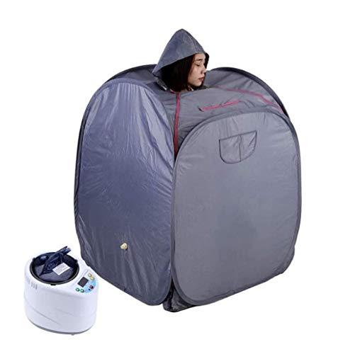 AXAXA Dampfsauna-Raum Für Zu Hause, Tragbares Zusammenklappbares Dampfsauna-Zelt Mit Begasungsmaschine, Fernbedienung Zum Abnehmen Zur Gewichtsreduktion,Grau