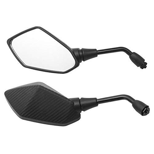Reemplazo SSSSY Motocicleta Universal Espejo de Motos Piezas Espejos retrovisores 8 mm 10 mm de Fibra de Carbono (Color : 8mm Screw)