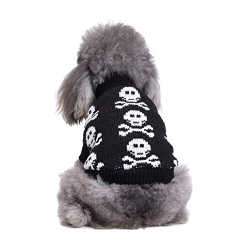 STOBOK Divertido disfraz de mascota de cuello alto, suter esqueleto, ropa de cosplay para cachorro, perro, tamao negro, 2XL, mascotas favorecen juguetes para cachorros