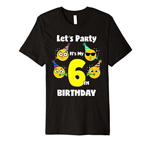 Emoji-Geburtstag Shirt, für 6Sechs Jahre alt Mädchen Jungen Kleinkinder Fun