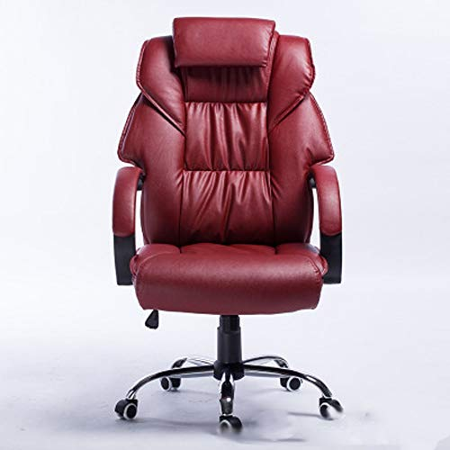 Startseite Bürostuhl Ergonomischer Bürostuhl Execu Chefsessel, hohe Rückenledersessel, ergonomisches Design Hebe Bequeme Bürostuhl Luxus Lederverarbeitung Kunst Boss Stuhl Home Computer-Stuhl Lederstu