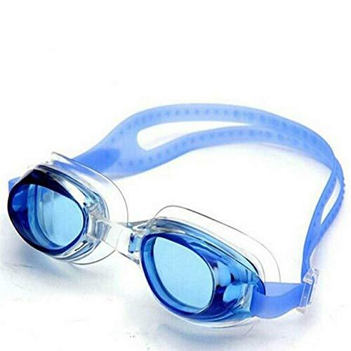 Viner Professionele siliconen verstelbare zwembril Eyewear Anti-condens UV-zwembril met doos Sportbrillen, blauw