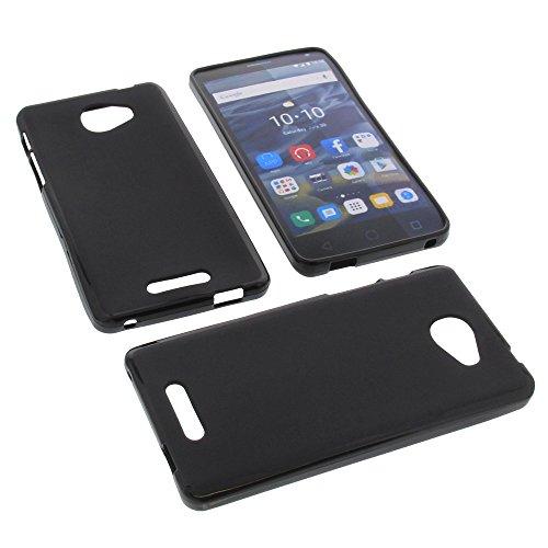 foto-kontor Tasche für Alcatel One Touch Pop 4S Gummi TPU Schutz Hülle Handytasche schwarz