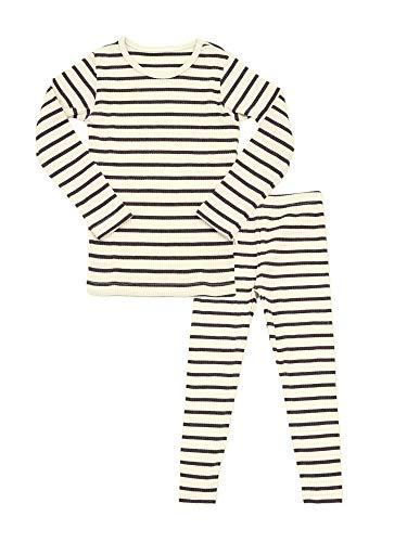 AVAUMA Baby Boys Girls Pajama Set 6M-8T Kids Cute Toddler Snug fit Pjs Cotton Sleepwear (Jam_Brown Large)