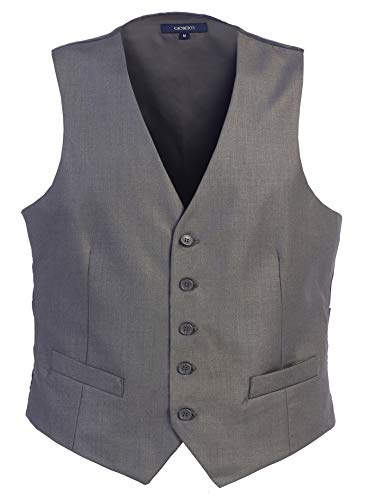 Gioberti Mens Formal Suit Vest, Gray, X-Small