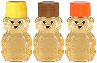 2-ounce RetroPak Plastic Panel Bear Fall Harvest Variety 24-Pack (Brown, orange, and golden yellow caps)