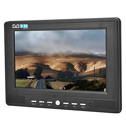 Televisor LCD Digital de 7  DVB-T T2 1080P, televisor portátil HD TV ATSC 16: 9 Televisor con entradas HDMI, USB, DC y Tarjeta SD