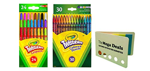 Crayola Twistable Colored Pencils, 30 Count Mini Twistables Crayons, Pack of 24| Includes 5 Color Flag Set