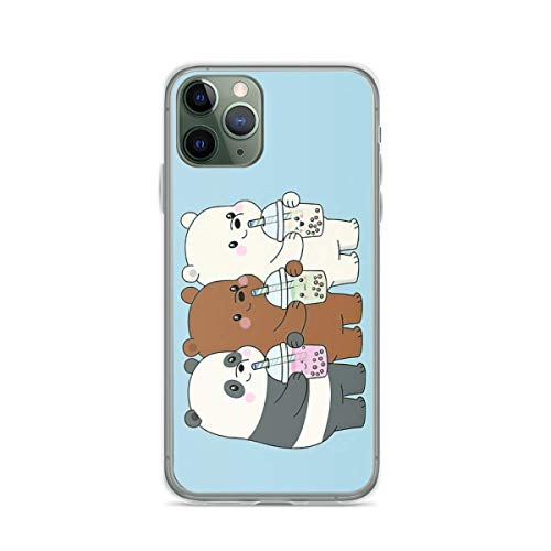 Phone Case We Bare Bears Compatible with iPhone 12/12 Pro Max Mini 6 6s 7 8 X XS XR 11 Pro Max SE 2020 Waterproof Tested Charm