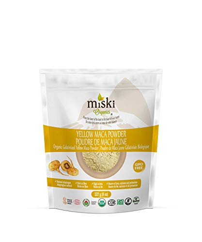 MISKI ORGANICS Gelatinized Dried Yellow Maca Powder, 227 g
