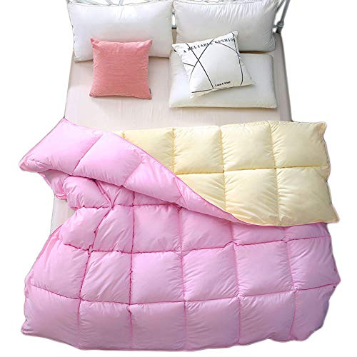 Comforters Reversible Pink Ultra Soft Breathable Quilt,High Cleanliness Cotton Fabric Optimum Warmth Lightweight, All Season Duvet Insert Or Stand-Alone ZX