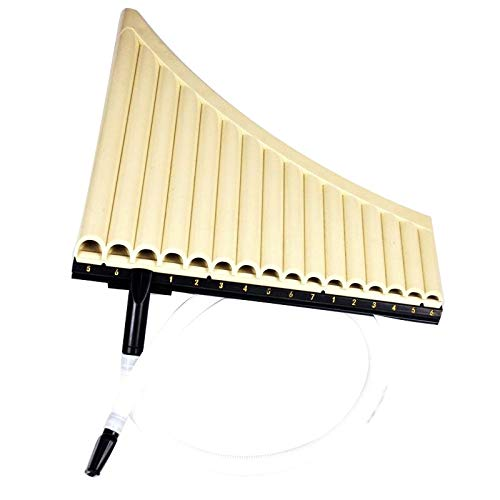 XUXUN -16 Tube Eco-Friendly Résine Flûte for Woodwind Instruments de Musique Lovers Débutant Ivoire Jaune (Couleur : Light Yellow)