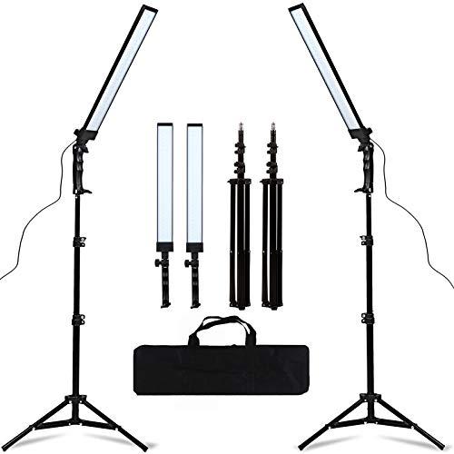 GSKAIWEN 180 LED Licht Fotografie Studio LED Beleuchtung Kit Einstellbare Licht mit Licht Ständer Stativ Fotografie Video Fill Light