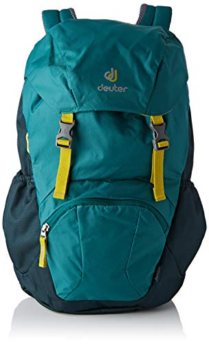 Deuter Kinder Junior Rucksack, Alpinegreen-Forest, 43 x 24 x 19 cm, 18 L
