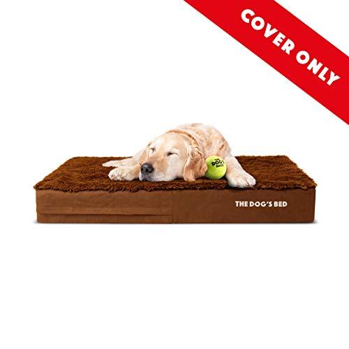 Ersatz-Bezug für orthopädisches Hundebett, Memory-Schaum, waschbar, hochwertiger Plüschstoff, extragroß, 117 x 71 x 15 cm, Teddy Bear Braun