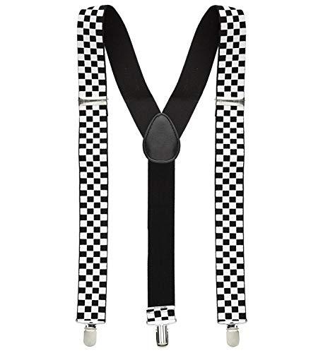 Hosenträger schwarz-weiß kariert 1 Stück