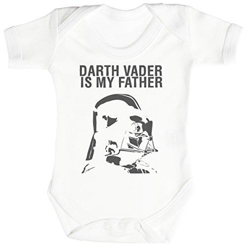 Baby Buddha Darth Vader is My Father Body bébé - Gilet bébé - Body bébé Ensemble-Cadeau - Naissance Blanc