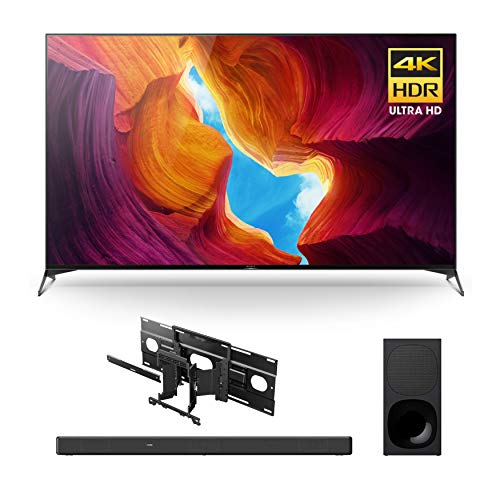 Sony X950H 65-Inch Full Array LED 4K Ultra HD HDR Android Smart TV with Soundbar and Wall Mount Bracket