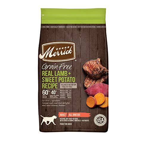 Comida sin cereales con auténtico cordero y batata para perros Merrick