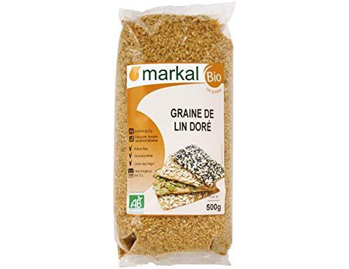 Semillas de Linaza dorada ecológicas (orgánicas) - Semillas de Lino de oro | 500g | Markal