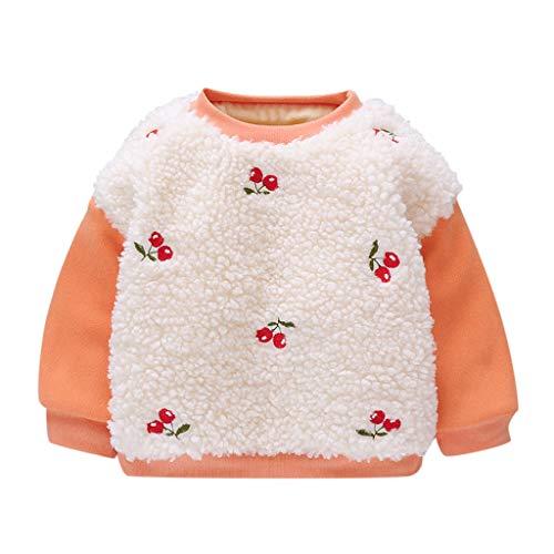Sudadera de invierno para bebé de 0 a 24 meses, de Sunnymi, manga larga, con capucha, parte superior naranja 80 cm (L)