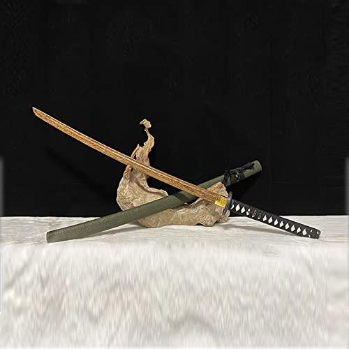 Bokken,Espada de cosplay espada samuri,Katana de madera de ala de pollo,Espadas samuris japonesas para Entrenamiento de artes marciales,Accesorios de actuacin,Prctica de Iaido,Decoracin del hogar