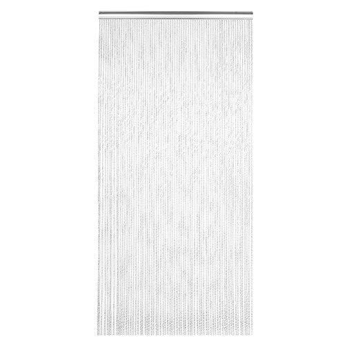 Cocoarm Türvorhang Metallglieder, Haushalts hängen Metall Aluminium Kettenvorhang kann wirksam verhindern, DASS Insekten, Mücken usw für Raum Office Store Dekoration Silber 214,5 x 90 cm