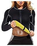 N\C Chaqueta De Gimnasia para Bajar De Peso para Mujer, Camisa para Correr con Forma De Cuerpo Quemador De Grasa, Traje De Sauna para Entrenamiento De Sudor Caliente (Size : 3XL)