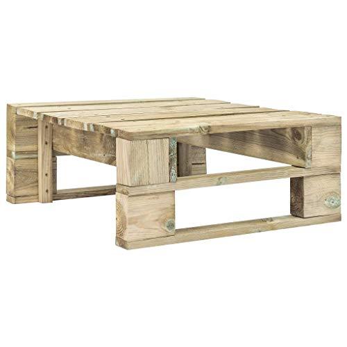 vidaXL Holz Gartenhocker Fußbank Sitzhocker Hocker Couchtisch Palettenmöbel