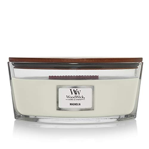 Woodwick Ellipse Scented Candle with Crackling Wick | Magnolia | Up to 50 Hours Burn Time