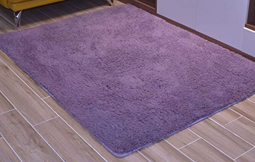 Satisinside Ultra Soft Sherpa Fleece Area Rugs Plush Carpet for Kids Room Nursery Room,Living Room Bed Room, 4'x5.3',Grey Purple