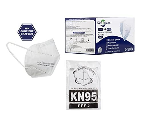 Sky Screen Mascarillas FFP2 KN95 20 unidades mascarillas homologadas certificado CE y EN 149:2001+A1:2009