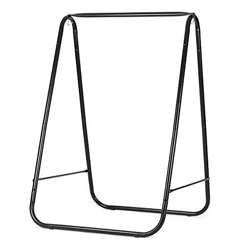 Sekey Hängesesselgestell Hängestuhlgestell, Rahmen für Hängestühle, Hängesessel 115x115x170 cm, Tragfähigkeit max. 150 kg, für den Innen- und Außenbereich, Schwarz (nur Rahmen)