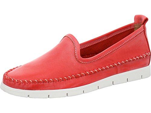 Lady Double You Dessy Damen Slipper Leder Rojo (41 EU)