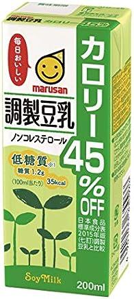 マルサン 調製豆乳 カロリー45%オフ 200ml×24本