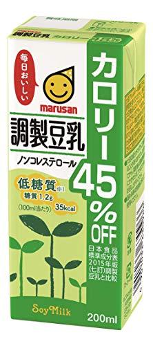 マルサン 調製豆乳 カロリー45%オフ 200ml×24本 紙パック